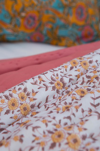 Ginger Floral Queen Quilt