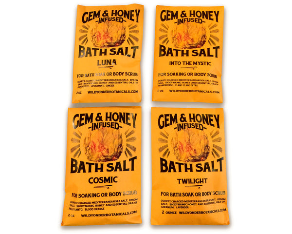 Gem & Honey Bath Salt Packets