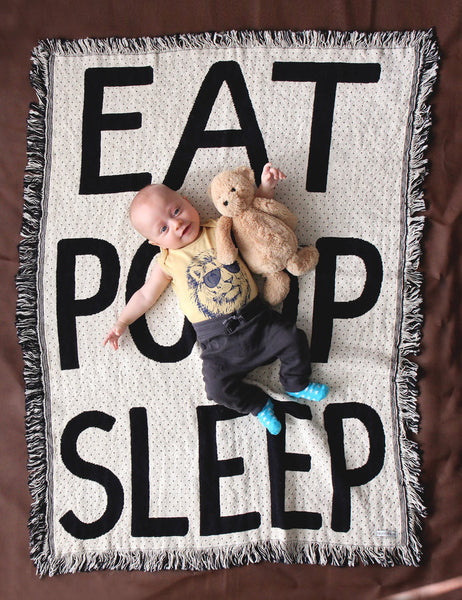 Eat Poop Sleep Baby Blanket