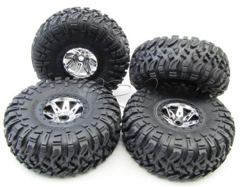 Axial Wraith TIRES & Wheels (Tyres ripsaw bebel crawler (Set of 4 glued AXI90018