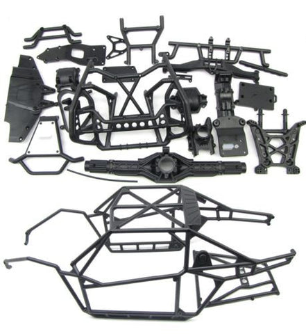 1/8 Yeti XL Roll Cage & Chassis Components (Plastic set, Bumpers Axial AX90032