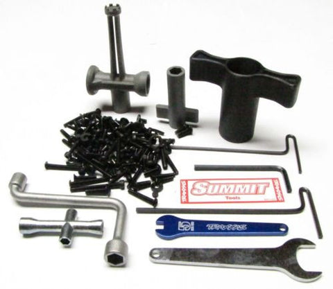 Summit SCREWS & TOOLS Set (SCREWS hardware hex Plastic Wrench Traxxas 56076-4