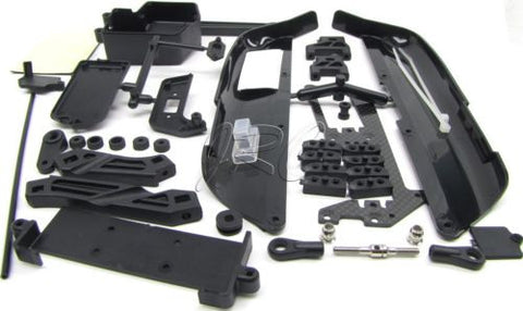 MBX7r PLASTIC SET (side stone mud guards tension rod radio box tray MUGEN E2015
