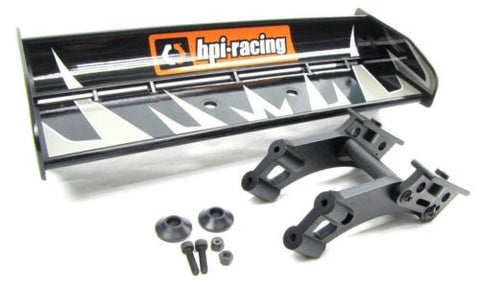 TROPHY Truggy WING & MOUNT, deck holder 101013, (same as buggy) (HPI flux 107018
