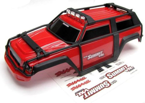 1/16 Summit BODY (RED Shell Cover & Decals, Traxxas #72076