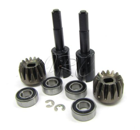 RS4 PINION Gears, bearings & Gear Shafts A559 A855 (HPI nitro 3 evo rtr 112619