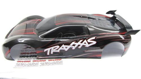 XO-1 UPDATED 2014 BODY shell BLACK & red (new painted cover & decal Traxxas 6407