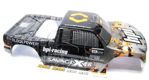 Savage X 4.6 BODY Shell BLACK/SILVER (Cover GT-3 109883 Painted) HPI 109083