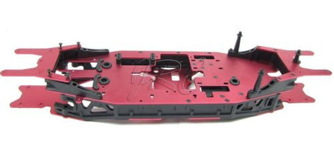 Losi XXL-2 CHASSIS (red plates, side rails, skid assembled LOS04002