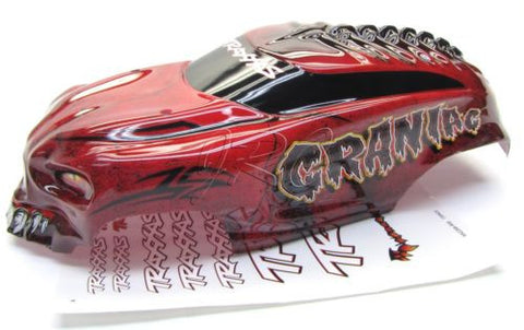 Craniac RED BODY cover Shell & decal (1/10 skully Traxxas stampede 2wd 36064-1