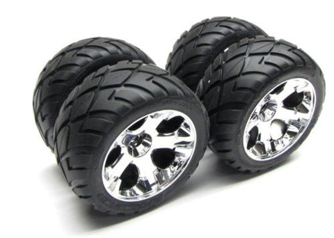 Jato 3.3 WHEELS & TIRES (5576R, 5577R Anoconda Glued set of 4) Traxxas #5507