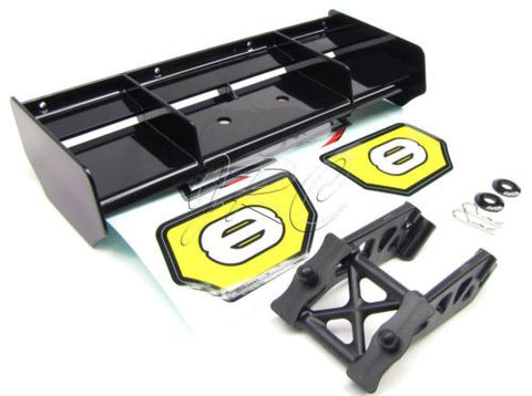 8ight Buggy BLACK WING, Mount & Decals truggy 8b 8t 3.0 Gas Team Losi LOS04000