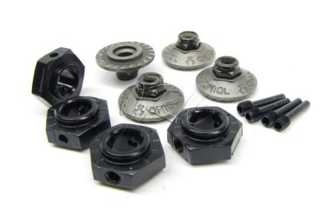 1/8 Yeti XL 17mm Hex Hubs & Wheel washer nuts (Alum) Monster Buggy Axial AX90032