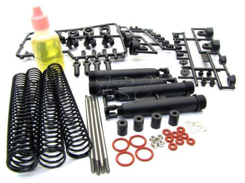 SAVAGE X SS FRONT/REAR SHOCK ASSEMBLY kit 85049 (lube, pistons springs 861 HPI