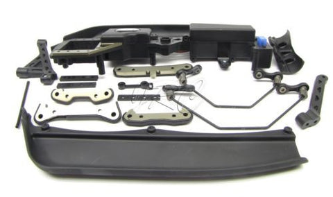 8ight Buggy Suspension Set (Mud Guards Braces Rx Box Sway Bars Gas Losi LOS04000