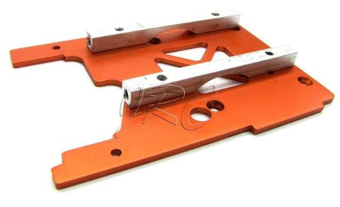 Savage X 4.6 ENGINE MOUNT PLATE (Orange 105896) HPI 109083
