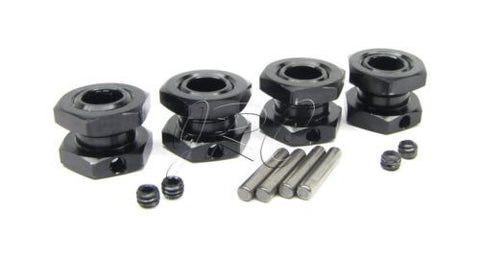 8ight Buggy 17mm HEXES (Wheel hubs & nuts Black truggy 8b Gas Team Losi LOS04000