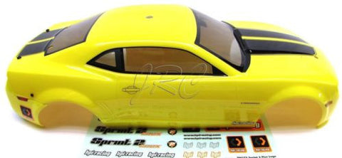 SPRINT 2 hpi CAMARO YELLOW BODY shell Cover 2010 (Flux 106168)