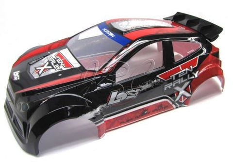 Losi TEN-RALLY X 4wd RED & Black BODY (Shell Cover painted team rallyx-10