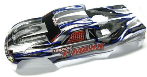 T-maxx 3.3 BODY shell (WHITE, SILVER & GREY extended prographix 49077-3 Traxxas