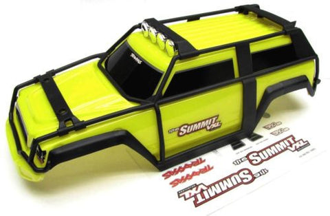 1/16 Summit BODY (YELLOW Shell Cover, roll cage & Decals Traxxas #72076