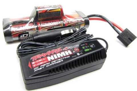 Stampede 4x4 8.4v Hump 3000Mah Battery NiHm & Peak Charger Rustler Traxxas 67086-3