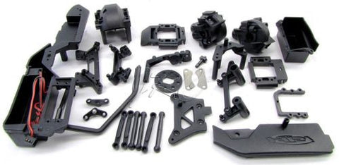 RS4 PLASTIC SET & brake, steering Servo Tray (HPI nitro 3 evo rtr 112619