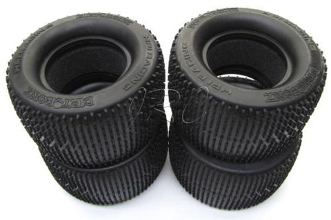 SAVAGE X SS DIRT BONZ TIRES (4 tyres & Foam Inserts, S compound 861 HPI