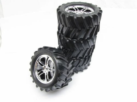 CLASSIC T-maxx 2.5 TIRES (4 WHEELS, Chevon 14mm 5173 tyres Traxxas 49104