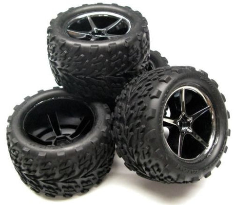 1/16 E-revo Preglued TIRES and WHEELS 7174A, Traxxas #71076-3