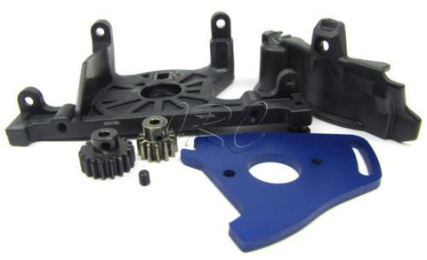 SLASH 4x4 OBA TSM - MOTOR MOUNT, cover & PINION GEARS 13t platium rally Traxxas 68086-21