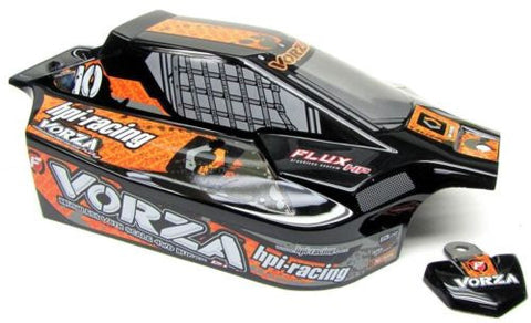 VORZA HP BODY Shell (ORANGE & BLACK UPDATED ) HPI #101850