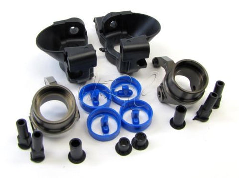 Kyosho Inferno MP9 TKI3 FRONT HUB CARRIERS, Aluminum Knuckle Arm TKI2 KYO31788B