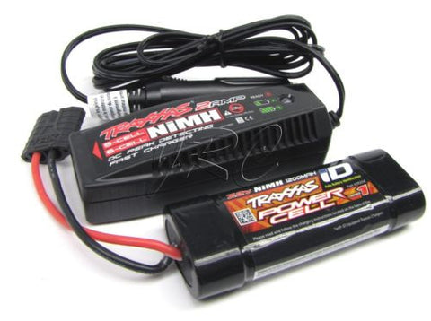 1/16 E-revo 7.2v Traxxas iD BATTERY & 2 Amp CHARGER 2925x 6-cell Summit 71076-3