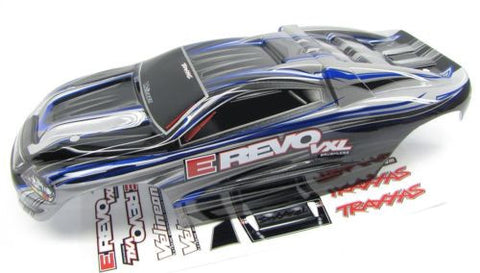 1/16 E-revo BODY, LIGHT GREY BLUE (Shell , Traxxas #71076-3