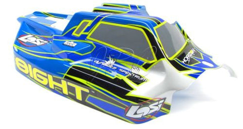 8ight Buggy BODY Shell (Blue Cover Factory Painted Gasoline Team Losi LOS04000