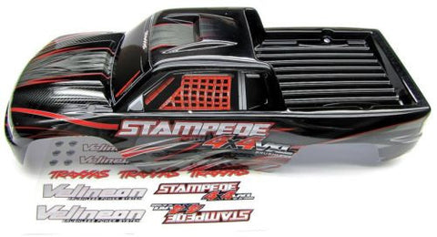 Stampede 4x4 VXL BODY Shell (BLACK & RED) Traxxas #67086-3