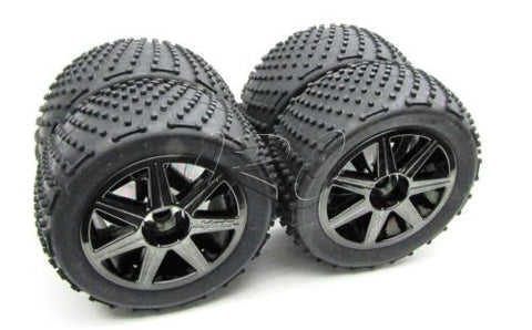 TROPHY Truggy TIRES & Wheels 1/8 17mm hex tyres D8T (HPI flux 107018