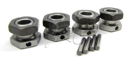 MBX8-WE HEX NUTS (17mm wheel hubs drives & pins locking buggy Mugen seiki E2025