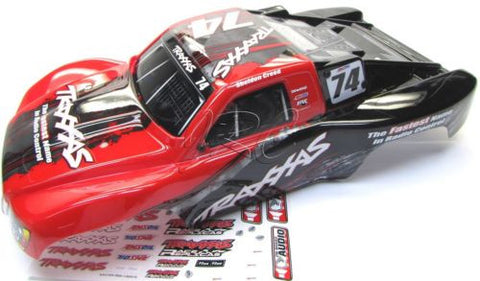SLASH 4x4 OBA TSM - BODY Red #74 Creed (Speakers Cover Decals Traxxas 68086-21