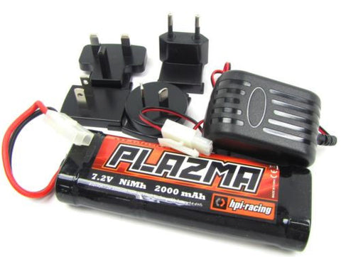 Savage X 4.6 PLAZMA 7.2V 2000mAh BATTERY & CHARGER 101929 XL RS4 HPI 109083