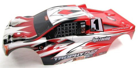 TROPHY Truggy BODY shell cover, Red White Black & decals 101808  (HPI flux 107018
