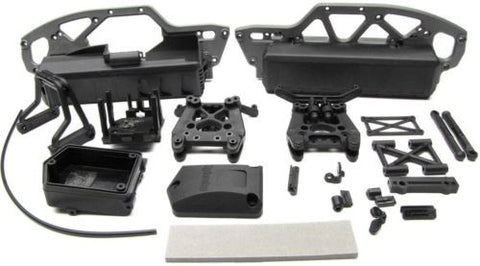 Savage Mini XS PLASTIC SET (CHASSIS, BATTERY BOXES, receiver box FLUX) 115125