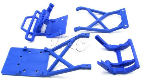 BIGFOOT BLUE BUMPERS & front/rear Skid plates (Traxxas Stampede 36084-1