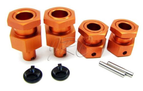 BAJA 5B SS Orange HEX HUBS 24mm ( & front hub nuts)  HPI 112457