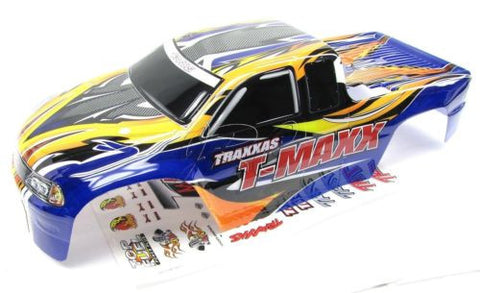 CLASSIC T-maxx 2.5 BODY shell (BLUE, Orange w/ Decals Prographix Traxxas 49104