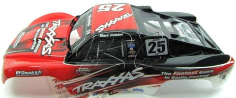 Nitro Slash BODY Shell (Red/Black #25 Mark Jenkins 4414 & Decal Traxxas 44056-3