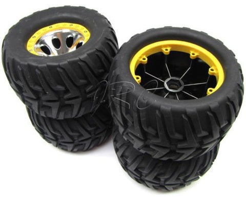 Mad Force Kruiser 2.0 VE WHEELS & TIRES factory glued (yellow set of 4 kyosho KYO30888b