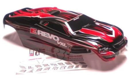 1/16 E-revo BODY, RED, BLACK (Shell , Traxxas #71076-3