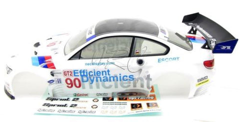 SPRINT 2 hpi WHITE BMW BODY M3 GT2 shell Cover 106976 & decal Flux 106168)